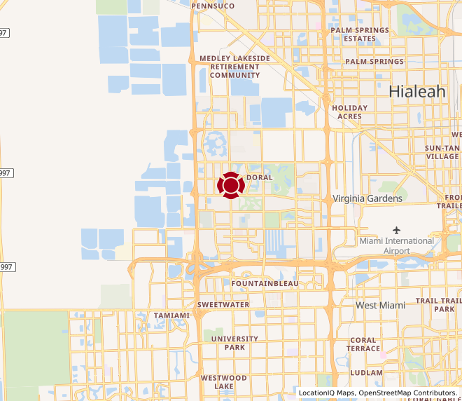 Map of Doral #1743