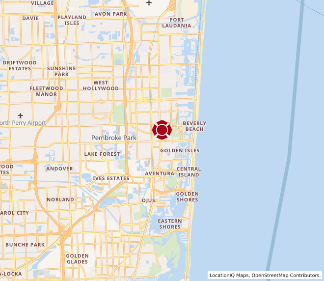 Map of Hallandale Beach #96