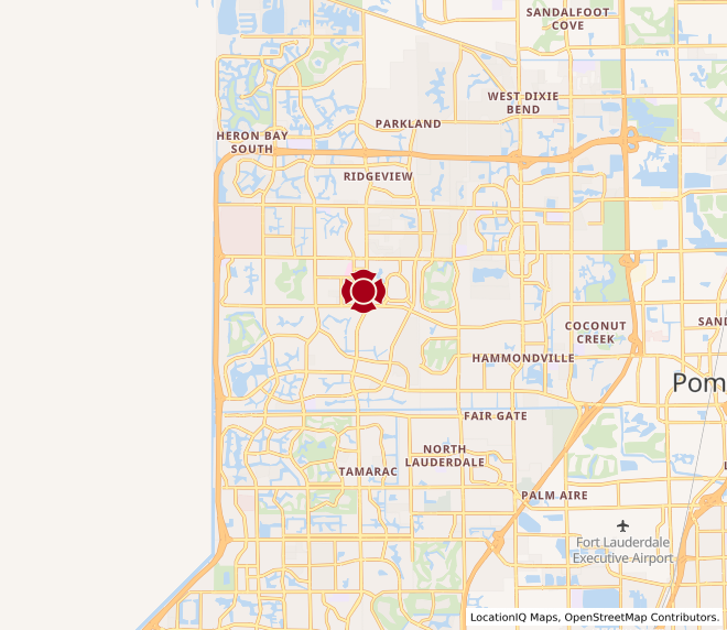 Map of Coral Springs #557