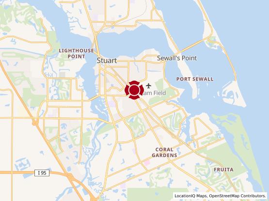 Map of Stuart US 1 #1608