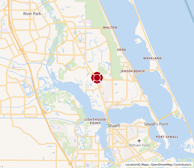 Map of Treasure Coast Square #1576