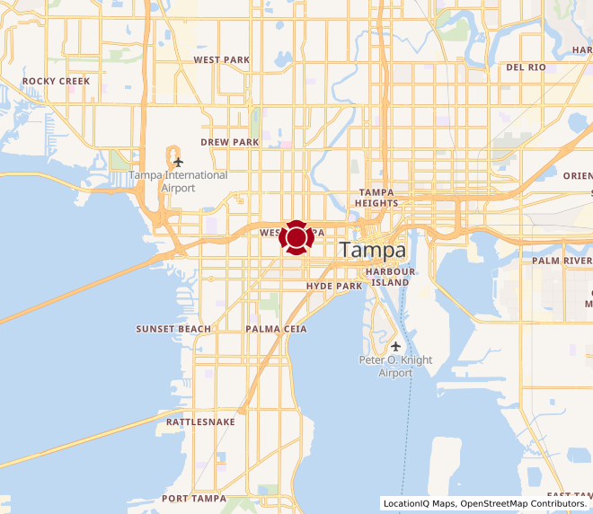 Map of University of Tampa #745