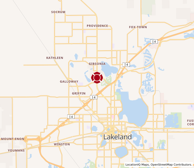 Map of North Lakeland #1010