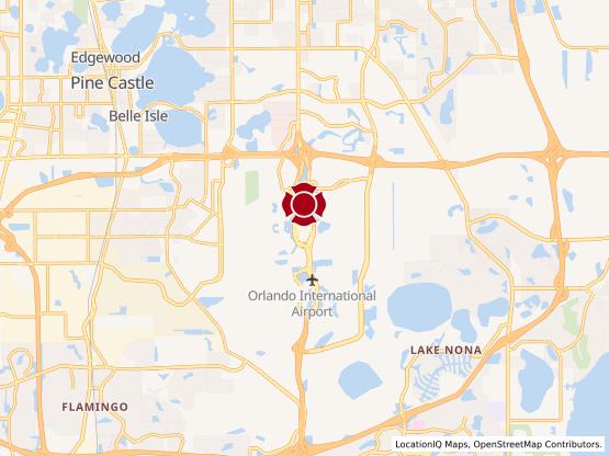 Map of Orlando International Airport