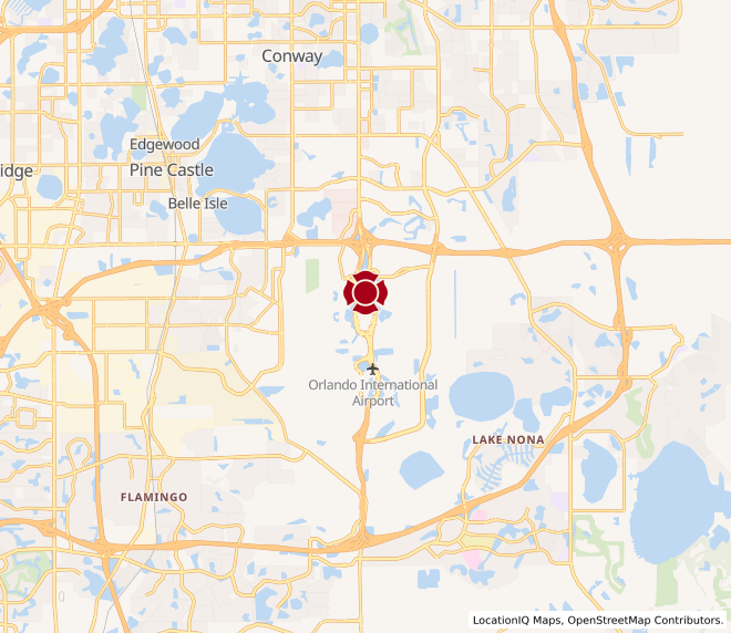 Map of Orlando International Airport #90003