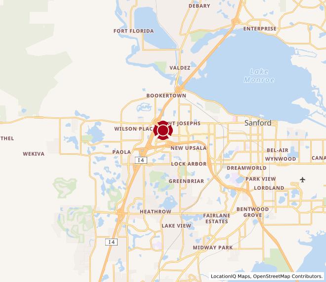 Map of Seminole Towne Center #218