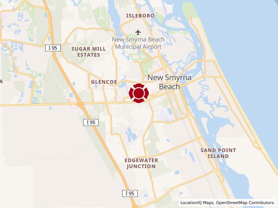 Map of New Smyrna Beach #928