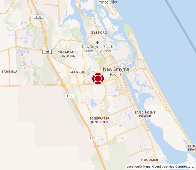 Map of New Smyrna Beach #928
