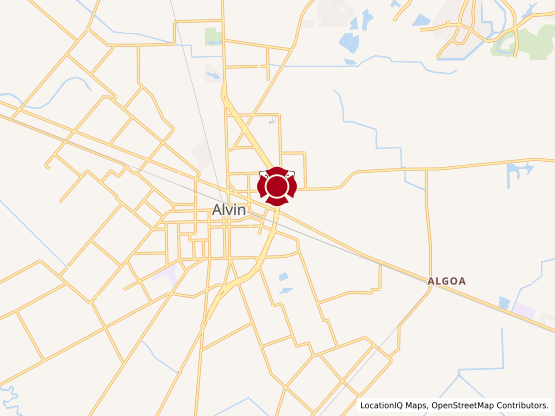 Map of Alvin Crossing #1474
