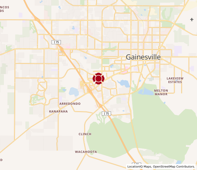 Map of Gainesville #117