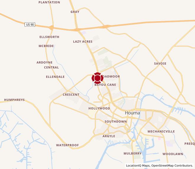 Map of Houma #942