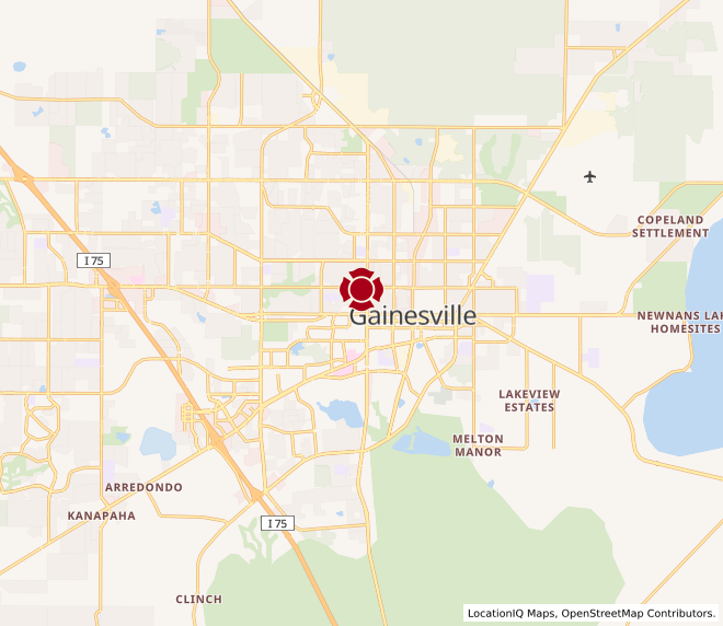 Map of Gainesville UF #243
