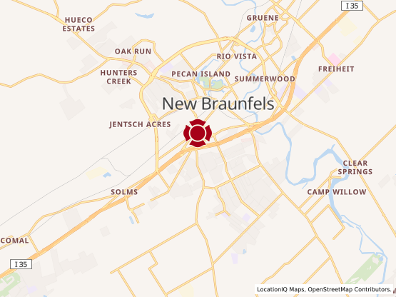 Map of New Braunfels South #1305