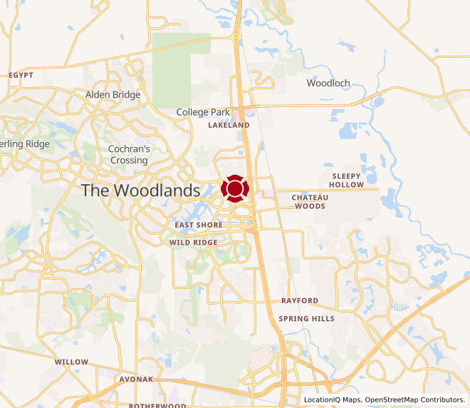 Map of Lake Woodlands #896