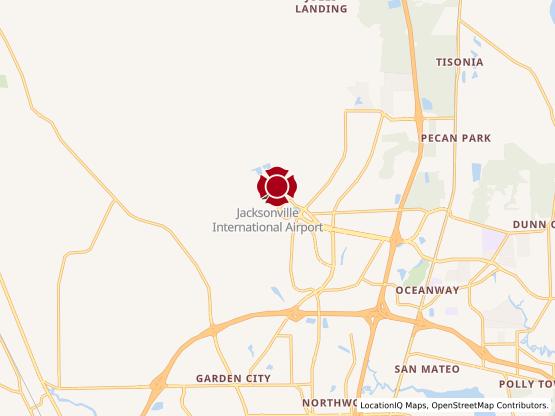 Map of JAX International Airport