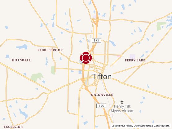 Map of Tifton #807
