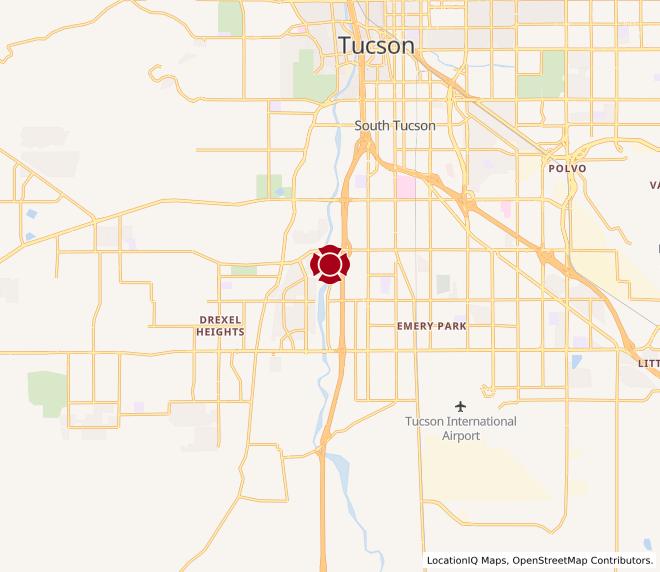 Map of Tucson Spectrum #1258