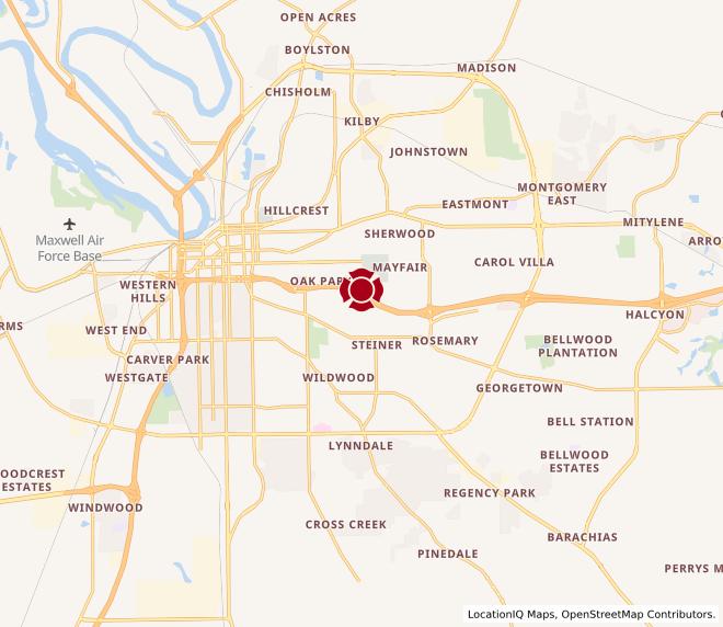 Map of Montgomery, Zelda Rd. #761