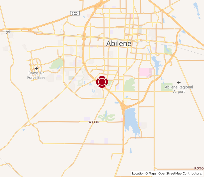 Map of Abilene South #890
