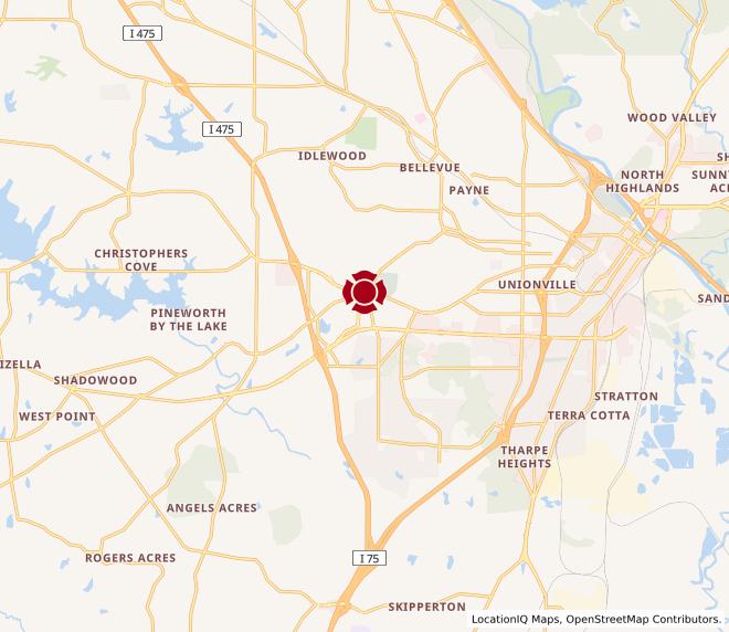 Map of Eisenhower Crossing #318