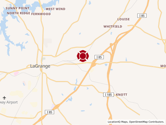 Map of LaGrange Mall #1542