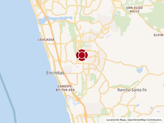 Map of Encinitas #1250