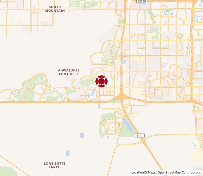 Map of Mountainside Plaza #1096 (40th Street & Chandler Blvd)