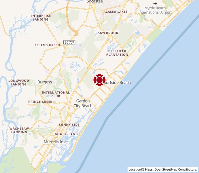 Map of Surfside Beach #159