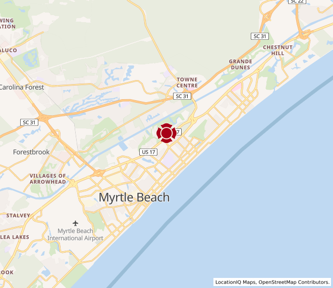 Map of Myrtle Beach @ 38th Ave. -  #35