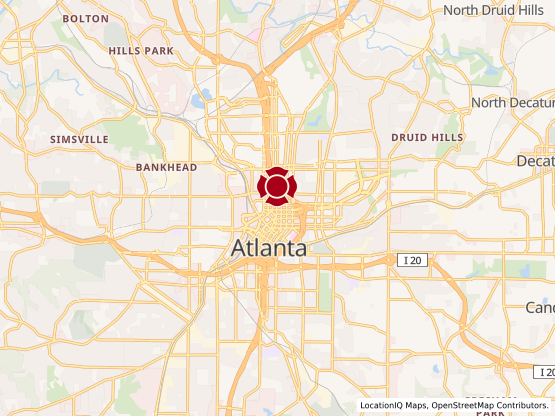 Map of Peachtree Center Mall #1030