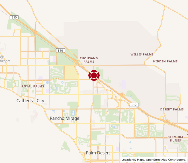 Map of Desert Gateway Center #1287
