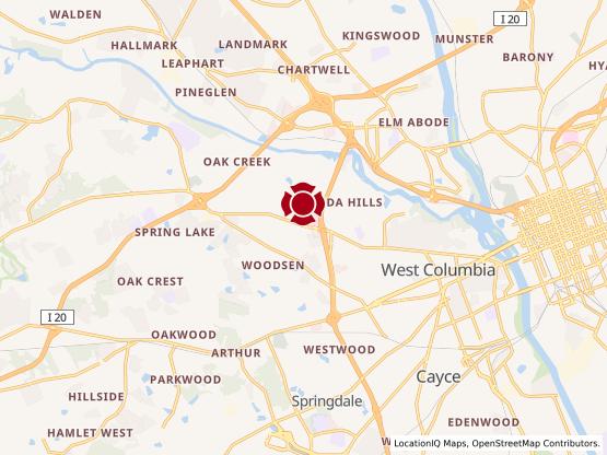 Map of Lexington Medical Center #460