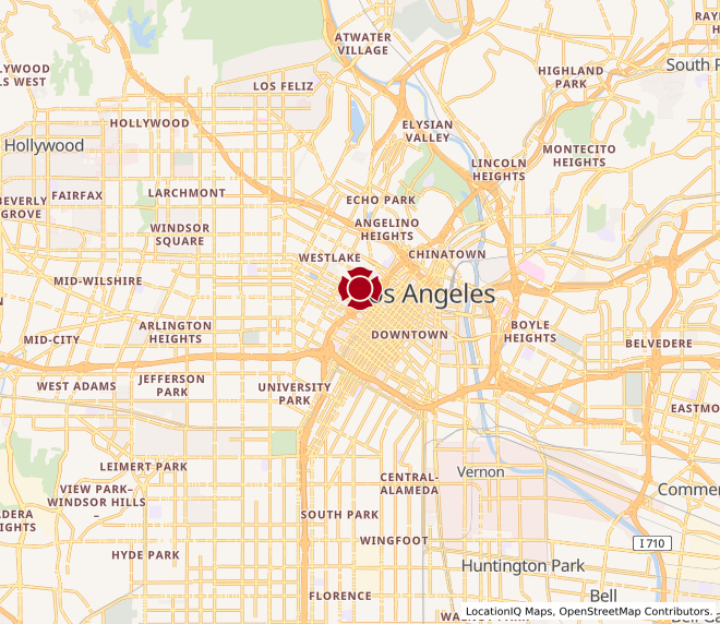 Map of LA Downtown #1811