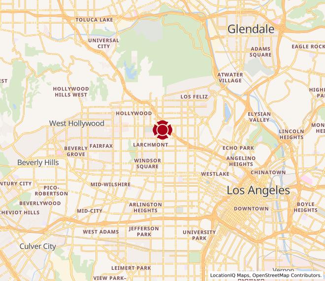 Map of LA Cloud Kitchen (Online Order Only) #1808