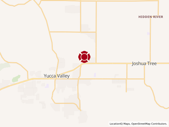 Map of Yucca Valley #1483
