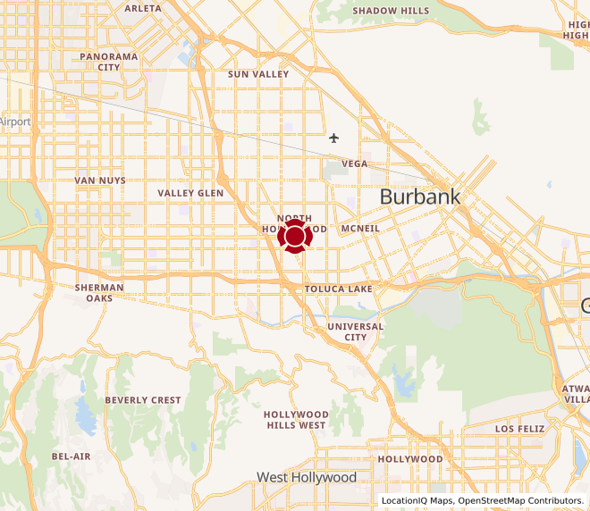 Map of North Hollywood #1291