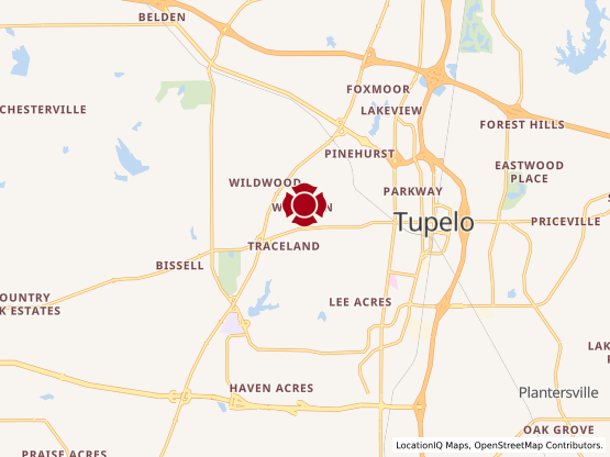 Map of West Tupelo #858