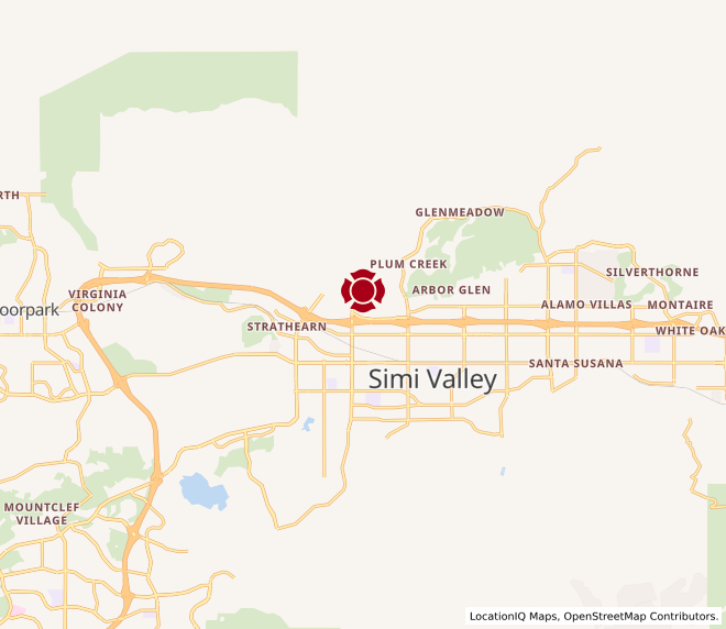 Map of Simi Town Center #882