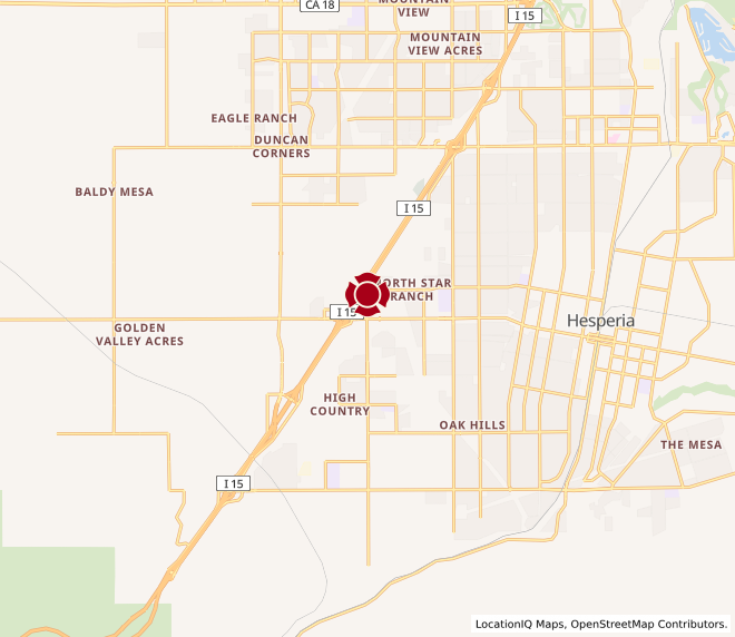 Map of Hesperia - Marketplace on Main #1328