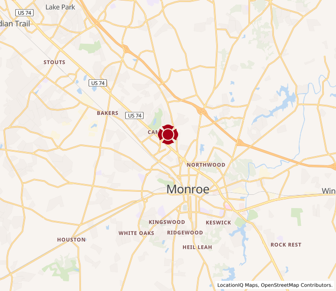 Map of Monroe #1330