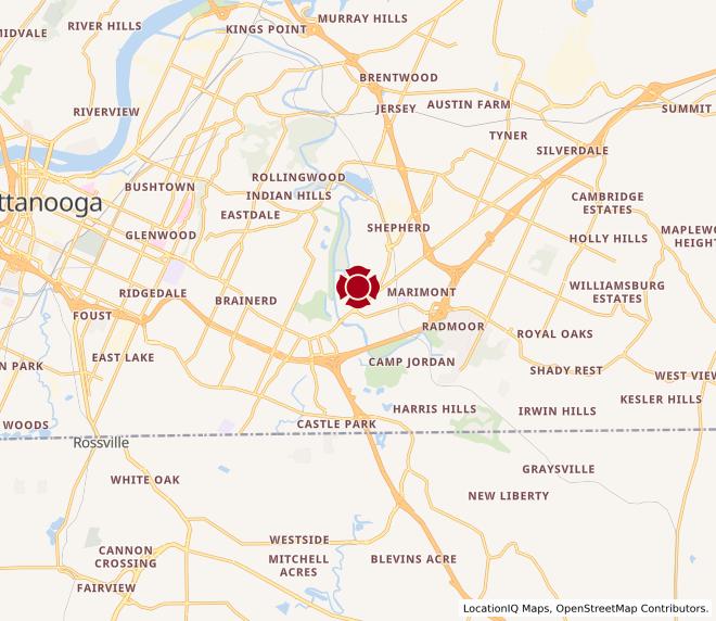 Map of Lee Hwy. #225