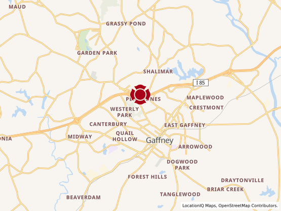 Map of Gaffney #768