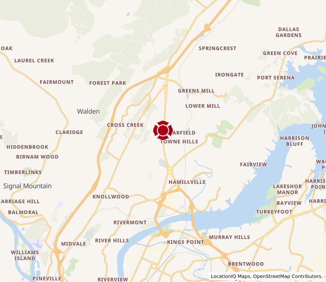Map of Hixson #1235