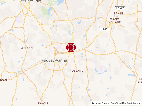Map of Fuquay Varina #917