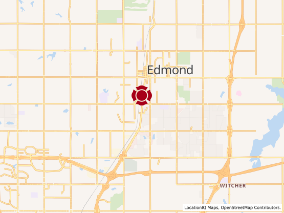 Map of South Edmond #1110