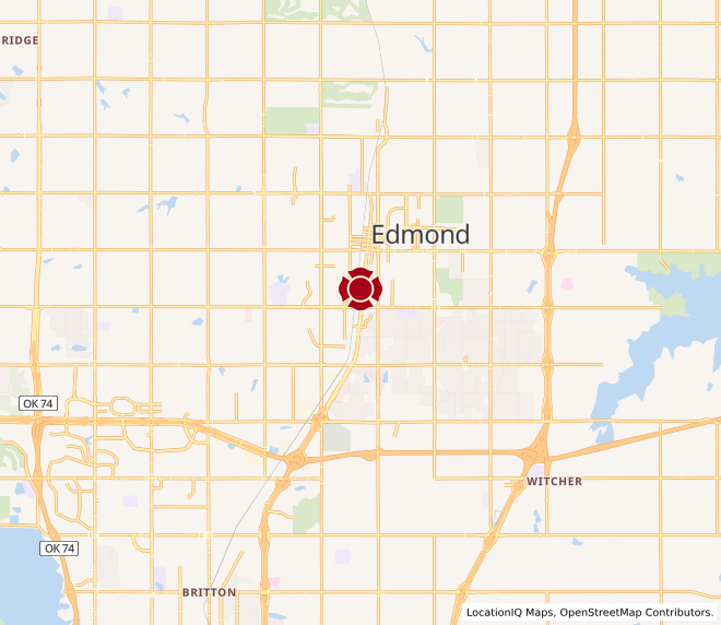 Map of South Edmond #1110