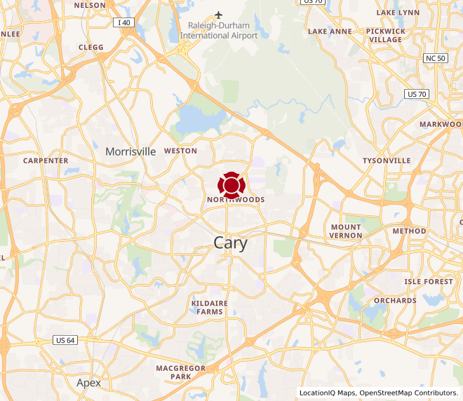 Map of Cary #122