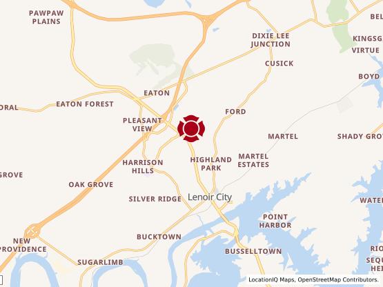 Map of Lenoir City #791