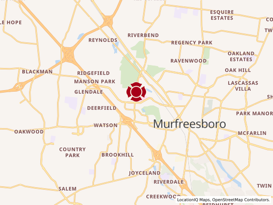 Map of Murfeesboro #598