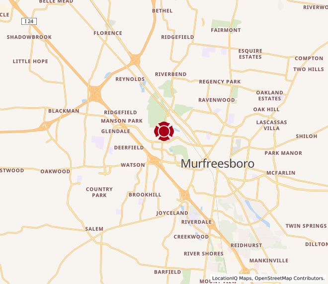 Map of Murfreesboro #598